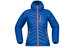 Bergans W's Slingsbytind Down Jacket m/Hood Athens Blue/Pumpkin/Light Winter Sky